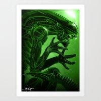 xenomorph Art Prints featuring Xenomorph by Mstap