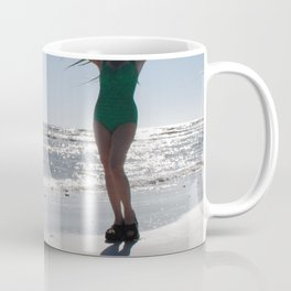 Palm frond Pinup Coffee Mug
