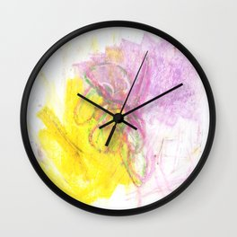 Yellow and Violet Wall Clock