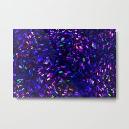 Fascination in blue- photograph of colorful lights Metal Print