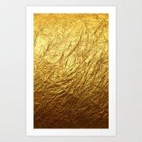 gold foil Art Prints featuring Gold Foil by digital detours