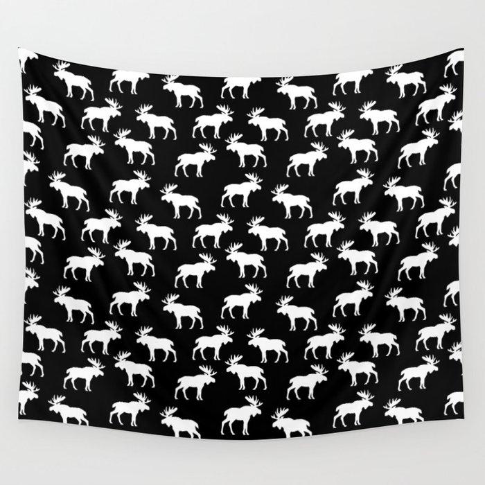 Moose Trot // Black Wall Tapestry