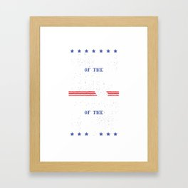 Land of the Free Home of The Brave USA 4th of July print Framed Art Print