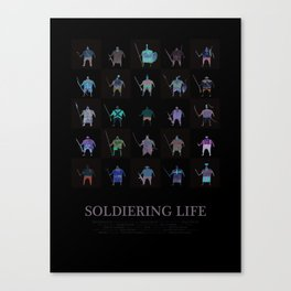 Soldiering Life Canvas Print