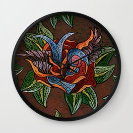 Sparrow Rose One Remix Wall Clock