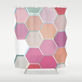 Layered Honeycomb 003 Shower Curtain