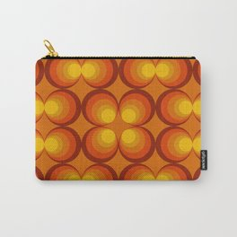 70s Circle Design - Orange Background Carry-All Pouch