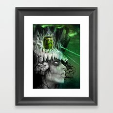 wasted mind, wasted earth Framed Art Print