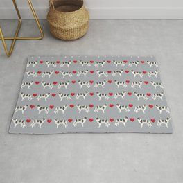 Border Collie love hearts dog breed gifts collies herding dogs pet friendly Rug