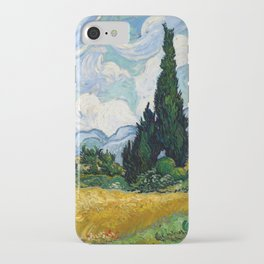 Vincent Van Gogh Wheat Field With Cypresses iPhone Case