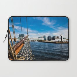 Boat Sailing on Oslo Fjord Laptop Sleeve