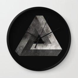 Penrose Triangle Moon Wall Clock