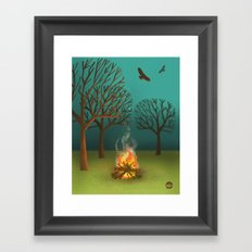 Fireside Framed Art Print