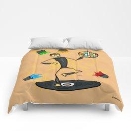Dancer in disco Comforters
