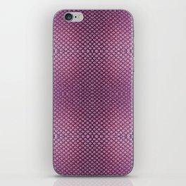 Purple Velvet Dot Pattern Art iPhone Skin
