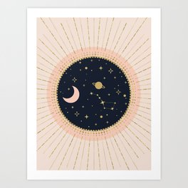 Love in Space Art Print