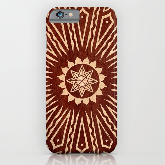ozorahmi wood mandala iPhone & iPod Case