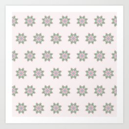 Floral Repeat Pattern Art Print