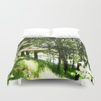 forrest Duvet Covers featuring Forrest Feeling by I AmErika