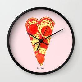 PIZZA HEART Wall Clock