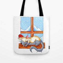 Christmas Catnap Tote Bag