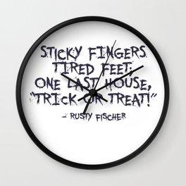 Trick Or Treat Halloween Design Wall Clock