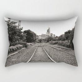 Railroad Tracks Rectangular Pillow