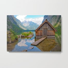 Hut in the Alps Metal Print