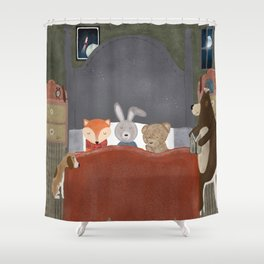 bedtime story Shower Curtain