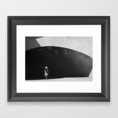 White Hat Framed Art Print