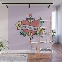 Stay Sharp - Purple Wall Mural