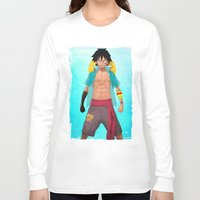luffy Long Sleeve T-shirts featuring Luffy by Yvan Quinet