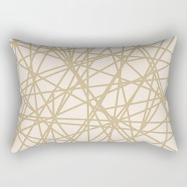 Almohadon Rectangular Red Beige Rectangular Pillow