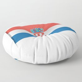 Flag of Croatia.  The slit in the paper with shadows.  Floor Pillow
