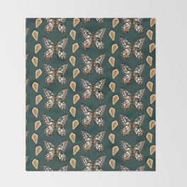Mary's Butterfly Garden Throw Blanket
