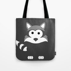 Minimal Raccoon Tote Bag
