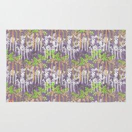 Oriental floral vine pattern Rug