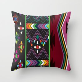 Aztec Central America Inspired Modern Geometric Design Throw Pillow