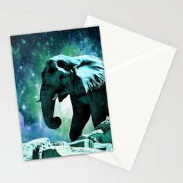 Galaxy Elephant of the Planet Pachyderm Stationery Cards