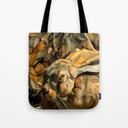 Splitting Hares Tote Bag