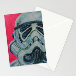 stormtrooper with 4 eyes Stationery Cards