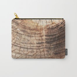 Neat Woodcut Carry-All Pouch