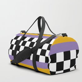 Checkered pattern grid / Vintage 80s / Retro 90s Duffle Bag