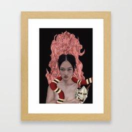 In the Death of the Grip of the Mask Framed Art Print
