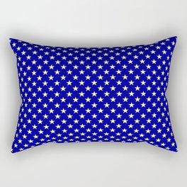 Large White Stars on Australian Flag Blue Rectangular Pillow