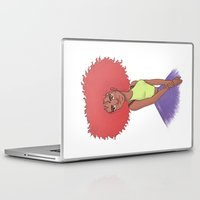 afro Laptop & iPad Skins featuring Afro girl by Joan Pons
