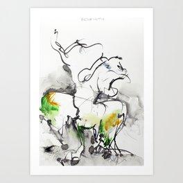 "Fantastic animals ""Behemoth"" Art Print"