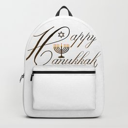 Happy Hanukkah- Jewish holiday celebration with star of David Backpack