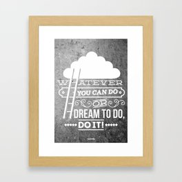 DO IT! Framed Art Print