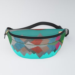 Hot Air Balloons Over Fabric Mountains Fanny Pack